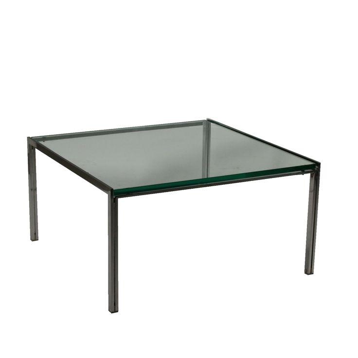 Petite Table Luar Acier Verre Ross Littell ICF