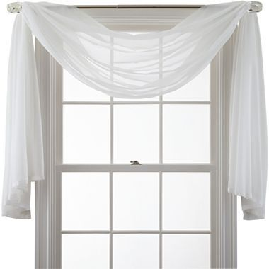 MarthaWindow  Voile Window Scarf   jcpenney. 96 best Bathroom remodeling images on Pinterest   Window coverings