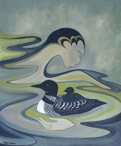 Maxine Noel...love the stylized wave with its hand embracing the birds...