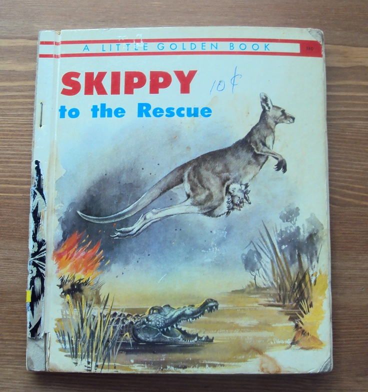 Skippy to the Rescue (1974) by Victor Barnes - A Little Golden Book (Australia) - Vintage Childrens Book