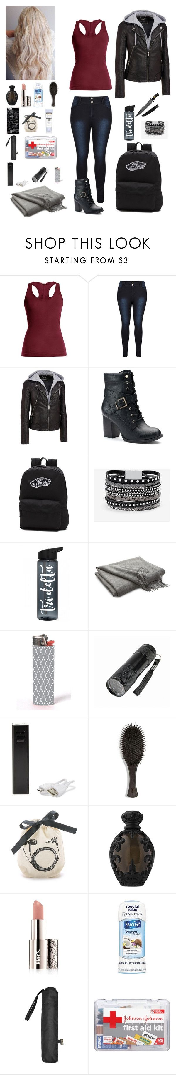 """Camping"" by frostwoods ❤ liked on Polyvore featuring Skin, Wilsons Leather, Apt. 9, Vans, White House Black Market, Crate and Barrel, LMNT, Oribe, Bag-All and Kat Von D"