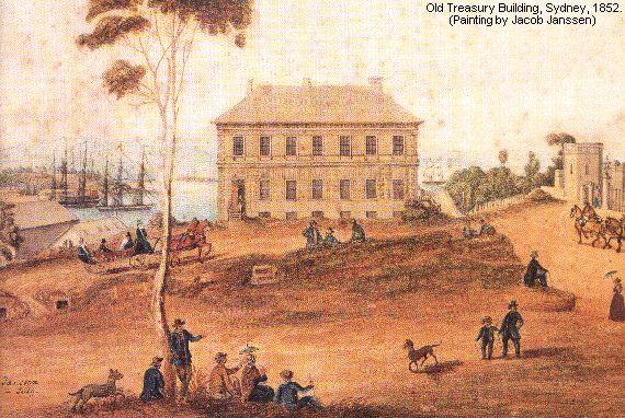 Old Treasury Building Sydney 1852