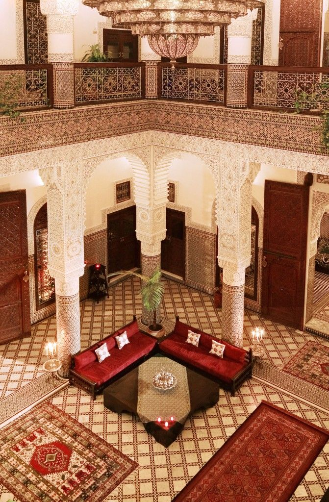 Riad Fes PatioTraditionnel