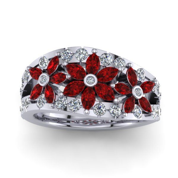 A beautiful Ruby and Diamond ring made for a special customer of ours. 16 Rubies and 28 Diamonds!