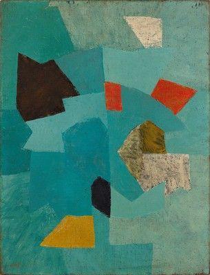 Serge Poliakoff - Composition en bleu (n° 7 bleu clair),vers 1953