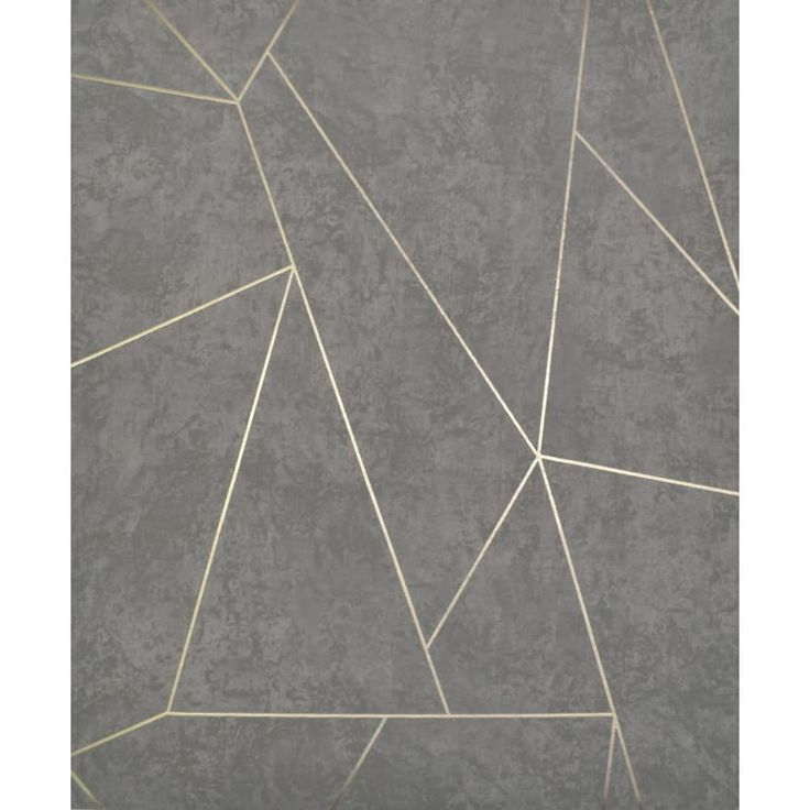York Wallcoverings Nw350 Grey And Gold Wallpaper