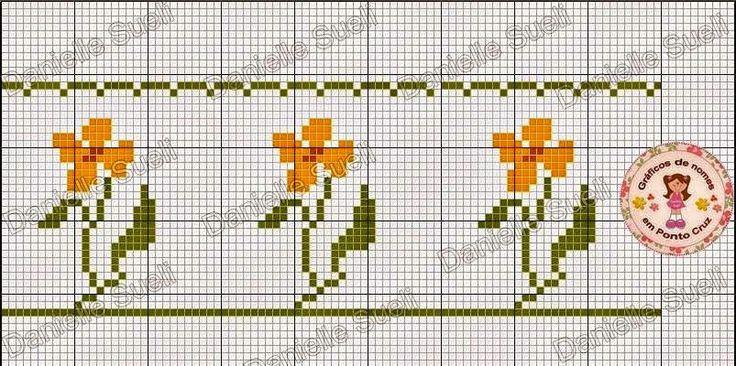 Artesanato Danielle Sueli: Gráficos de flores feitos por mim
