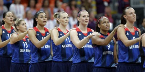 Great picture of ORU alum Dominique Allen prior to yesterday's Team GB basketball game vs. Russia. #ORUWBB