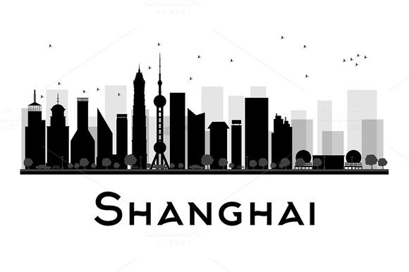 #Shanghai #City #skyline #silhouette by Igor Sorokin on @creativemarket