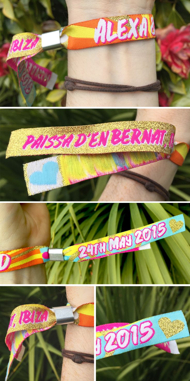 personalised Ibiza wristbands http://www.wedfest.co/ibiza-wedding-seating-plan-elixir-shore-club-ibiza/