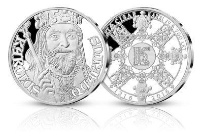 Unikátní stříbrné medaile připomínající odkaz Karla IV., ražené pouze v den 700. výročí od jeho narození!
