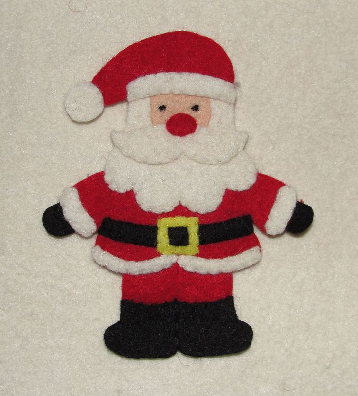 Wool Felt Santa Claus