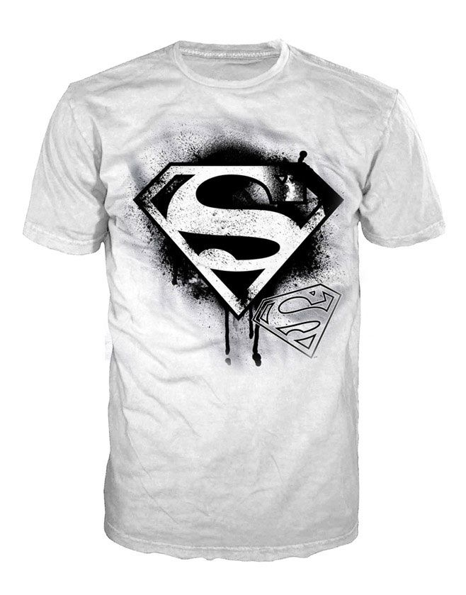 Camiseta Superman. Logo negro