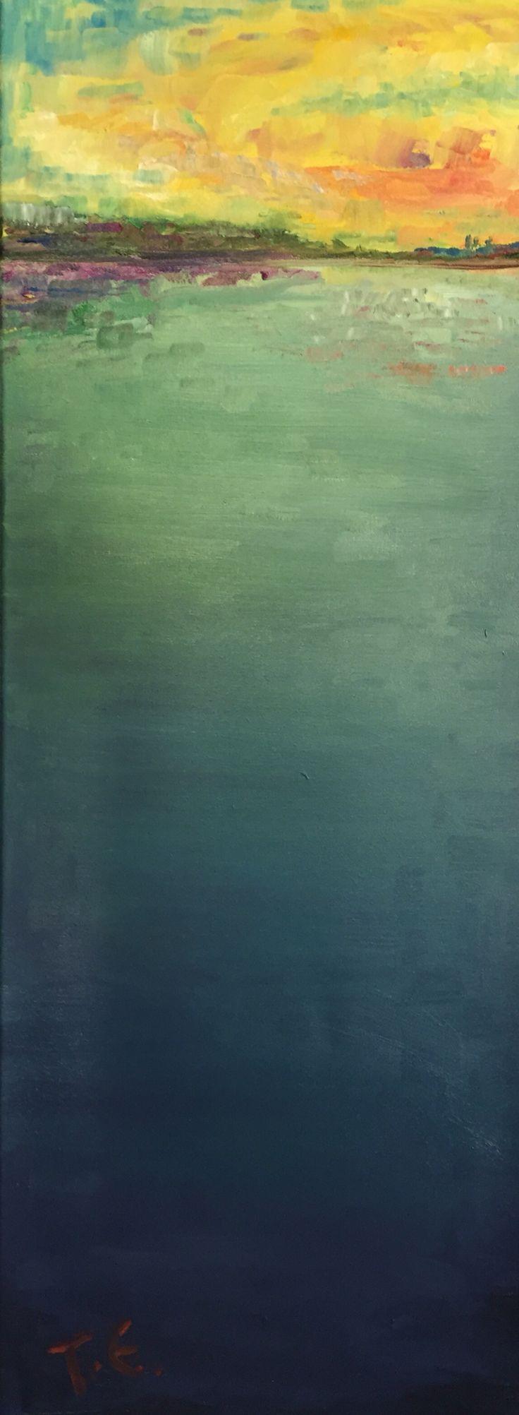 "Grazy About Sun Set (""Hulluna auringonlaskuun""), Oil Painting 2016/04"