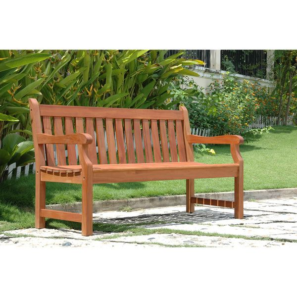 $123, 5 ft, FSC certified, oil once yearly, Baltic 5-foot Garden Bench - Overstock Shopping - Great Deals on Vifah Outdoor Benches