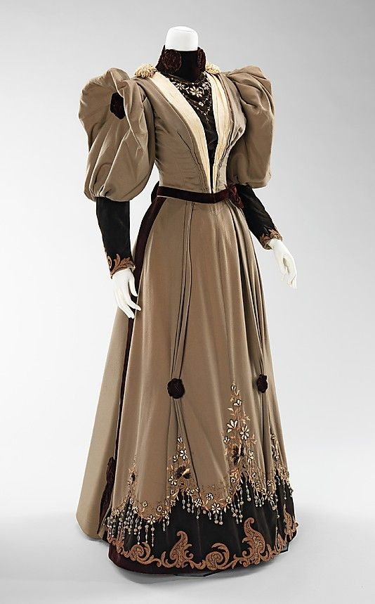 Victorian Dress, Evening Date: 1893 Culture: American Brooklyn Museum Costume Collection at The Metropolitan Museum of Art, Gift of the Brooklyn Museum, 2009; Gift of Edwin A. Neugass, 1959