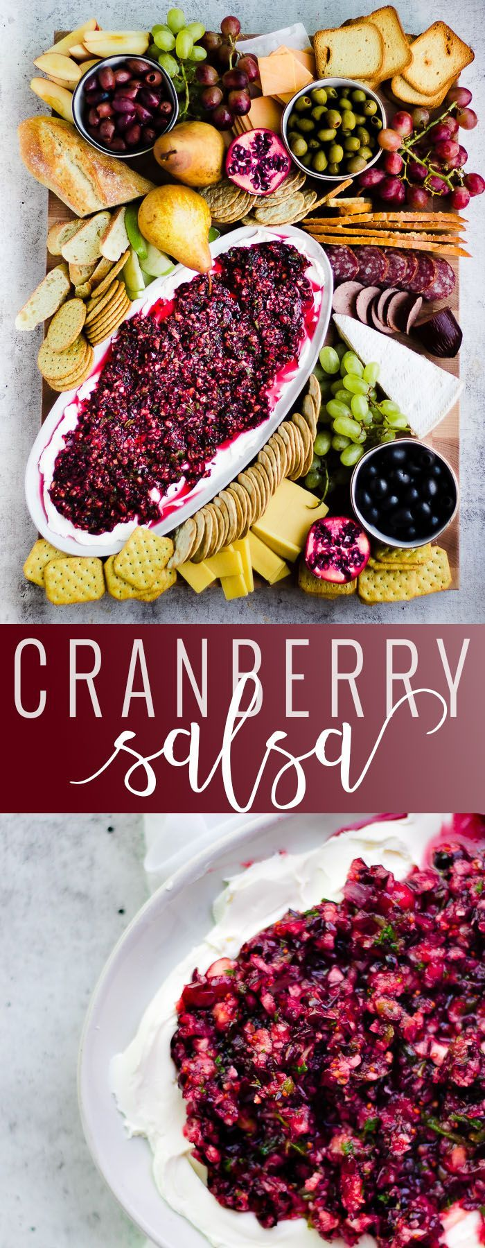 Cranberry Salsa | homemade cranberry recipes | fruit salsa | easy cranberry salsa | homemade salsa recipes | sweet salsa recipes | holiday appetizers || Oh So Delicioso #cranberrysalsa #fruitsalsa #sweetsalsa