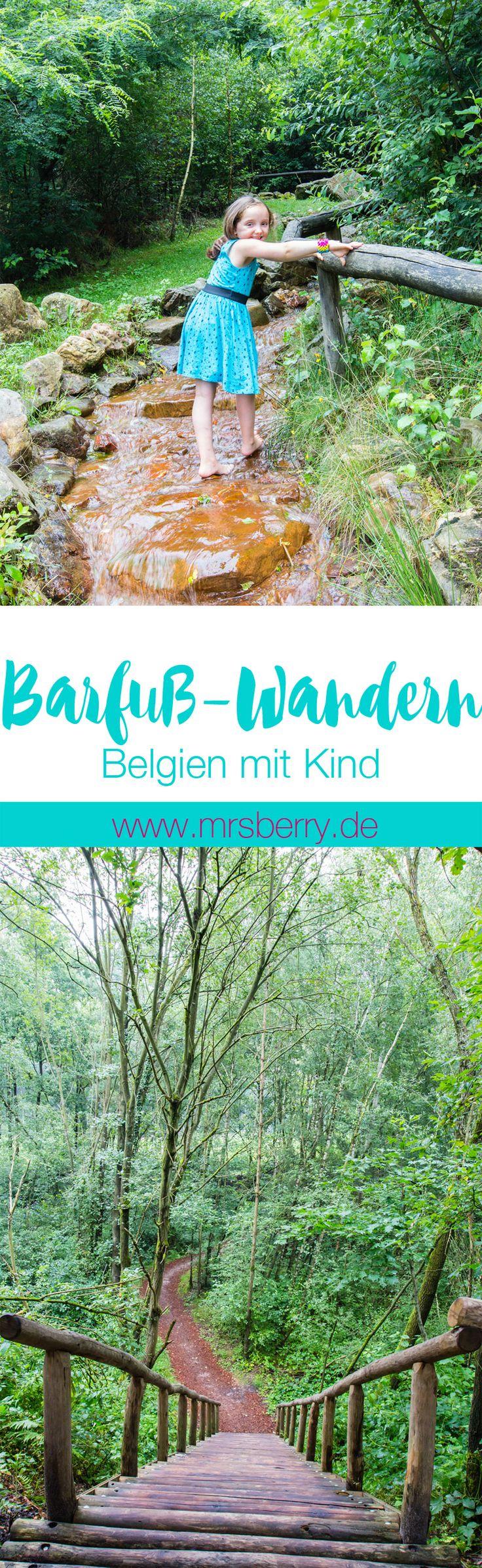 Belgien mit Kind - Ein tolles Ausflugsziel ist der 2 km lange Barfuß-Wanderweg im Nationalpark Hoge Kempen in Belgien.