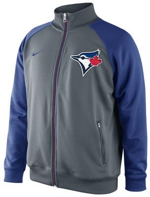 Toronto Blue Jays MLB Nike Charcoal Track Jacket