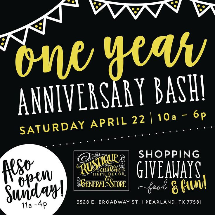 Rustique's 1 YEAR ANNIVERSARY BASH!!!!!!!! Meet store owner Tawnya  local crafters  artisans on site. Fun, Shop, Cake, Drawings  SHOP!!!!