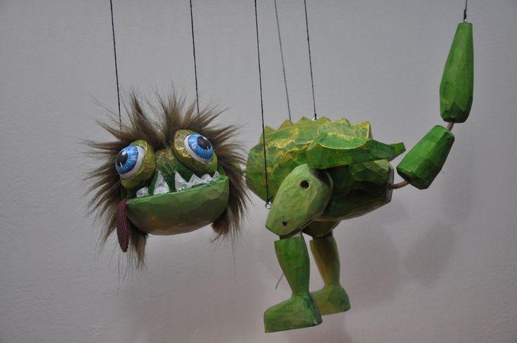 Dragon- wood marionette, 36 cm