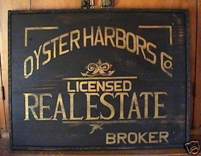 Cape Cod Real Estate Sign $88.00 DISCONTINUED