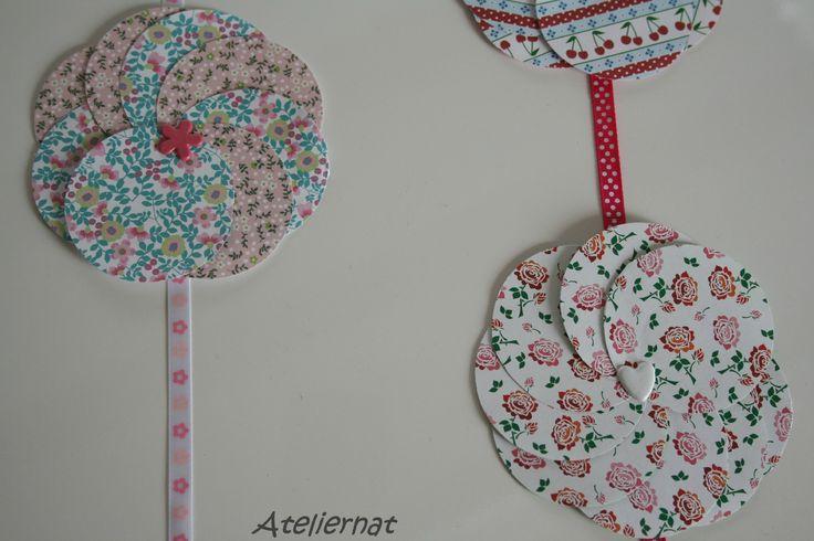 Guirlandes de fleurs en papier guirlandes pinterest - Guirlandes de fleurs ...