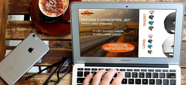 Novos Capacetes Jet KV20 | Para uso urbano  #kappa #kappamoto #lusomotos #capacetes #jet #urbano #visor #shorvisor #longvisor #kv20