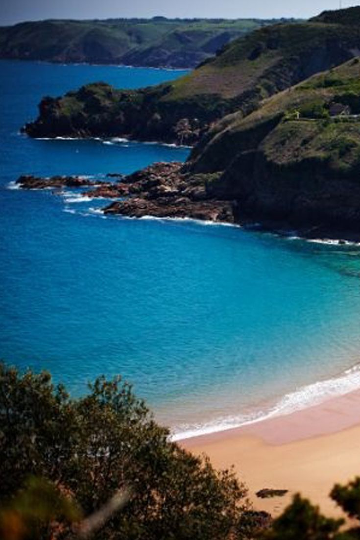 Secluded bay in Jersey, Channel Islands #EscapeToJersey