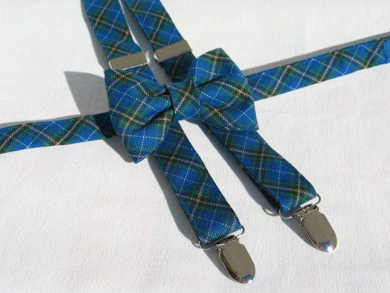 Nova Scotia Tartan Suspenders and Bow Tie Set by dolldressedup