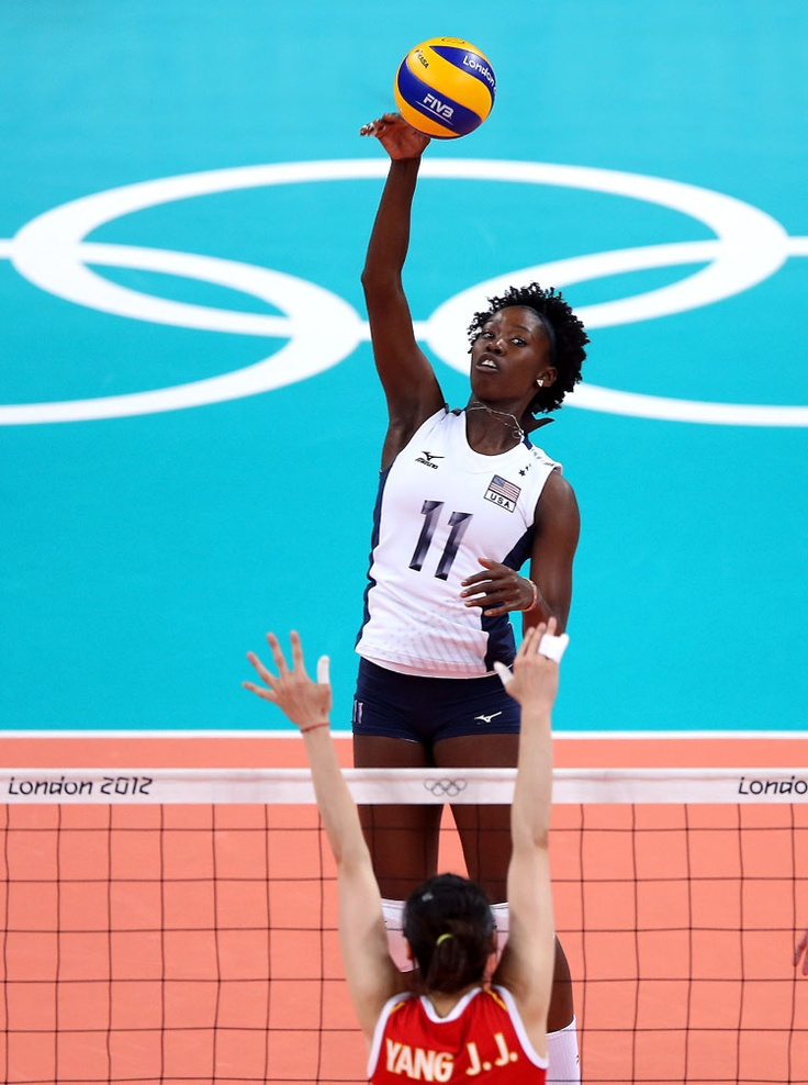 Megan Hodge, United States Olympic Volleyball Player. Born in the Virgin Islands but raised in my hometown of Durham, NC. Bull City Baby! I was watching her on TV against China today...