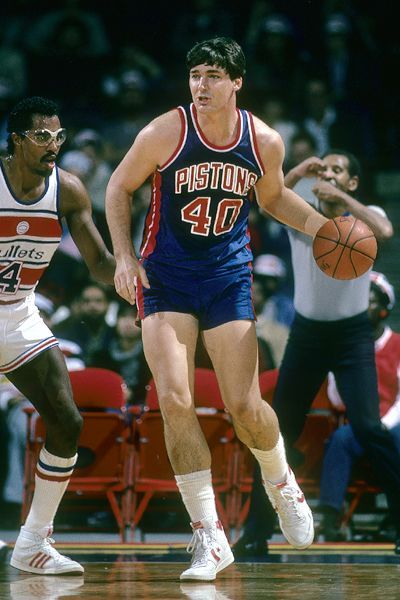 Man: Bill Laimbeer, who played for the Detroit Pistons from 1982 to 1993.