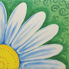 """Fresh as a daisy."" Yes, it's cliche, but there's a reason for that! Daisies remind us of the coming spring; this one is easy to customize with your own favorite colors. #socialartworking"