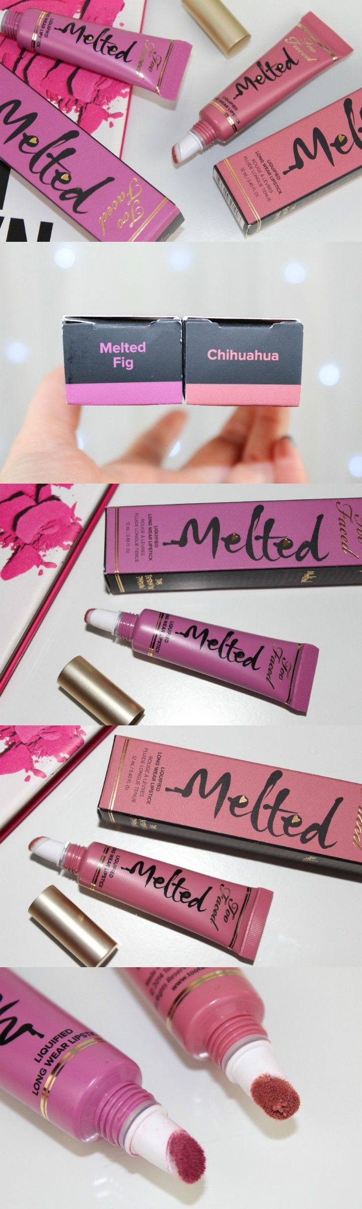 Too Faced Melted Liquified Long Wear Lipsticks in Melted Fig and Chihuahua - http://pinkparadisebeauty.blogspot.co.uk/2015/11/too-faced-melted-liquified-long-wear.html