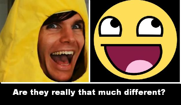 Onision and happy face meme