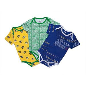 It won't be long until your child is more knowledgeable about the latest technology than you are. Why not get them off to an early love of all things tech with these organic cotton technology-themed bodysuits.