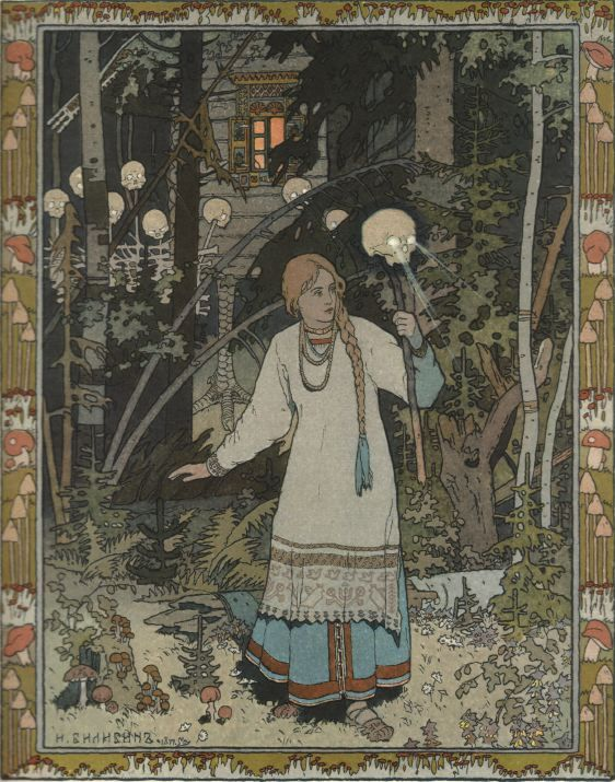 Bilibin, 1899.  Notice the Liberty Caps and other psilocybe mushrooms in the borders.