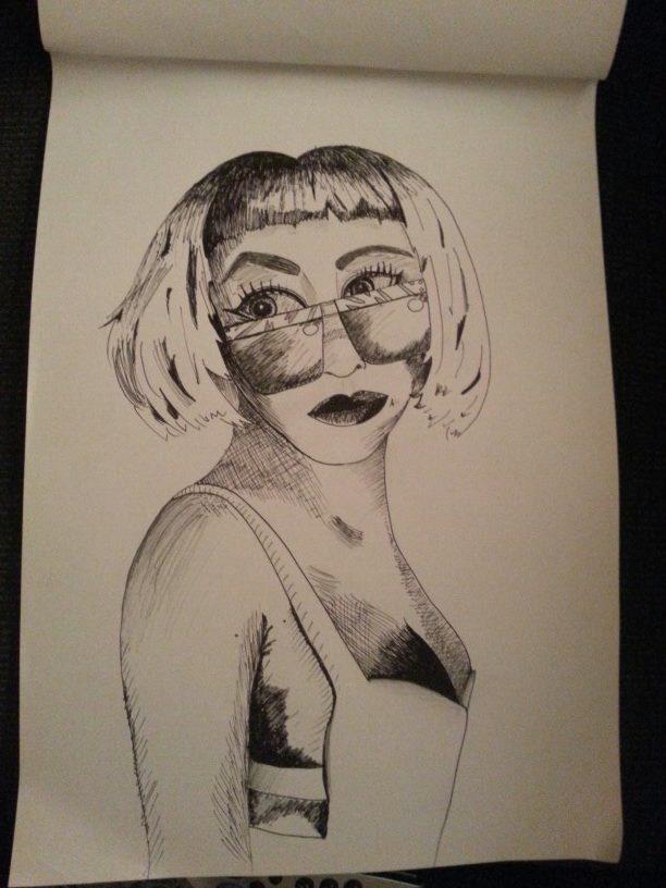 pen and ink GaGa