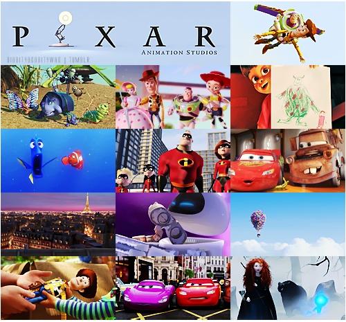 13. Люблю все фильмы Пиксара и Диснея.  A collage of some of Disney's Pixar movies