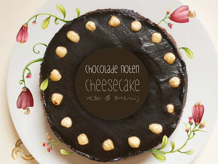 Vegan (glutenvrije) chocolade-hazelnoot cheesecake - Culy.nl