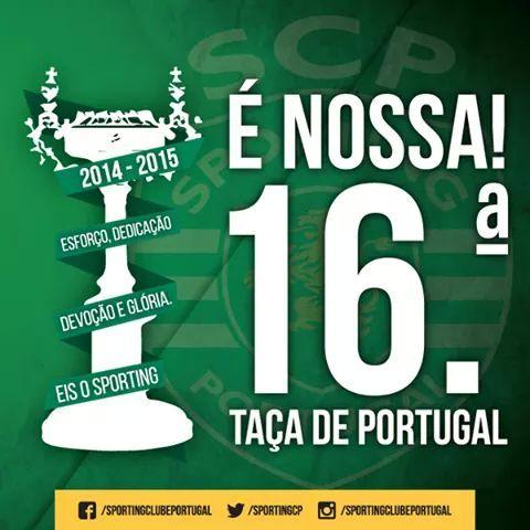 TAÇA é nossa Parabéns Sporting⚽ #sporting #sportingclubedeportugal #taca #tacadeportugal #scp #Portugal #festa #happy #estadiodojamor #jamor #alvalade #emocao #esperanca #ondaverde #orgulho