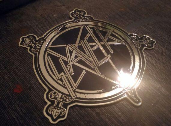 Geëtst messing SLAYER zwaard Patch broche Badge, Testament Anthrax Kreator morbide Saint Dark Angel ZELDZAAM!!!