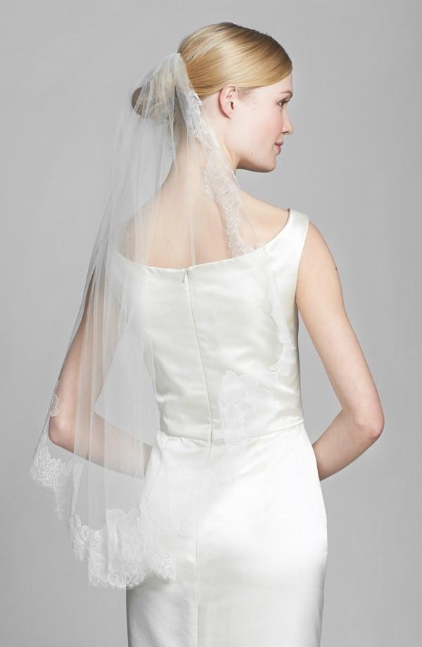 Delicate hand-sewn veil