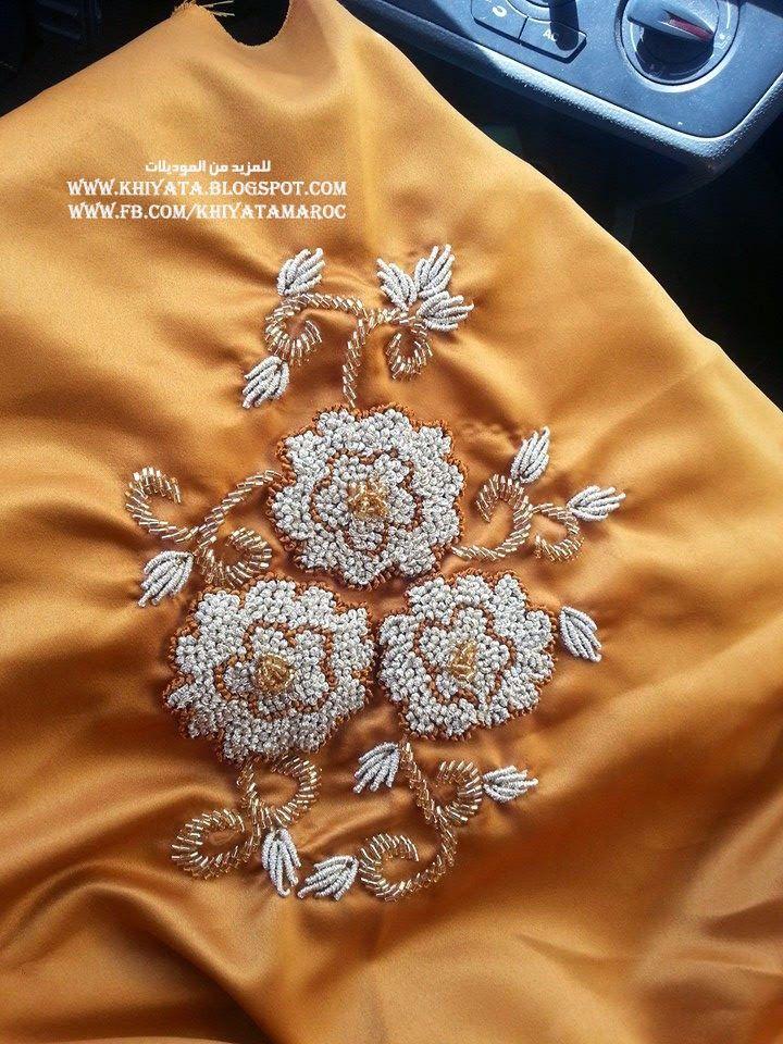 جديد الطرز الرباطي باليد منبت بالعقيق موديلات جميلة جدا   الخياطة التقليدية المغربية