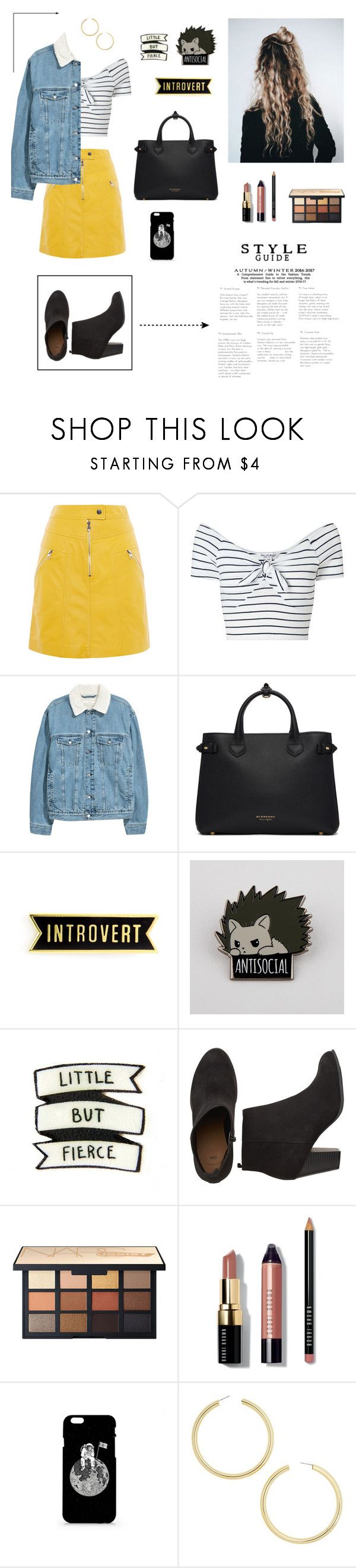 """""""Introverted"""" by grace-melody-smith ❤ liked on Polyvore featuring Karen Millen, Miss Selfridge, Burberry, Avery, Bobbi Brown Cosmetics and BaubleBar"""