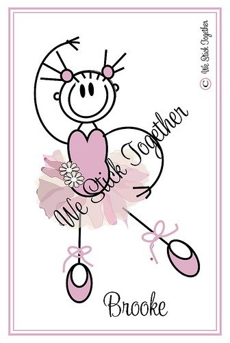 Ballerina Brooke   All hand drawn by Jacqui  Find us on facebook https://www.facebook.com/westicktogetherstickers?ref=ts=ts