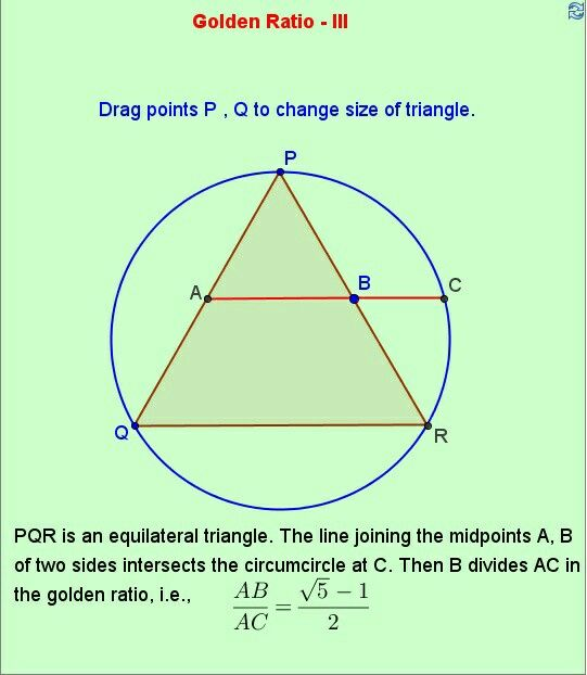 Triangle Golden Ratio Sacred Geometry Pinterest