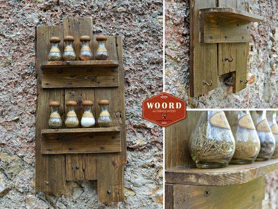 BORSHELF: Rustic Wooden wall hanger shelves Kitchen rustic home by WOORDshop