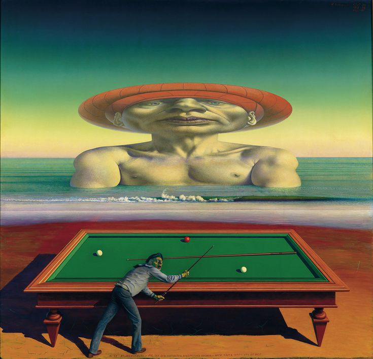 Rudolf Hausner (Vienna, December 4, 1914 – February 25, 1995) was an Austrian painter, draughtsman, printmaker and sculptor. He came into conflict with the Surrealist orthodoxy, who condemned as heretical his attempt to give equal importance to both conscious and unconscious processes. In 1959 he co-founded the Vienna School of Fantastic realism together with his old surrealism group members: Ernst Fuchs, Wolfgang Hutter, Anton Lehmden, Arik Brauer, and Fritz Janschka…