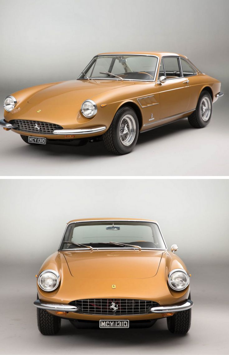 This golden ferrari 330 gtc could be your ticket to 60s style